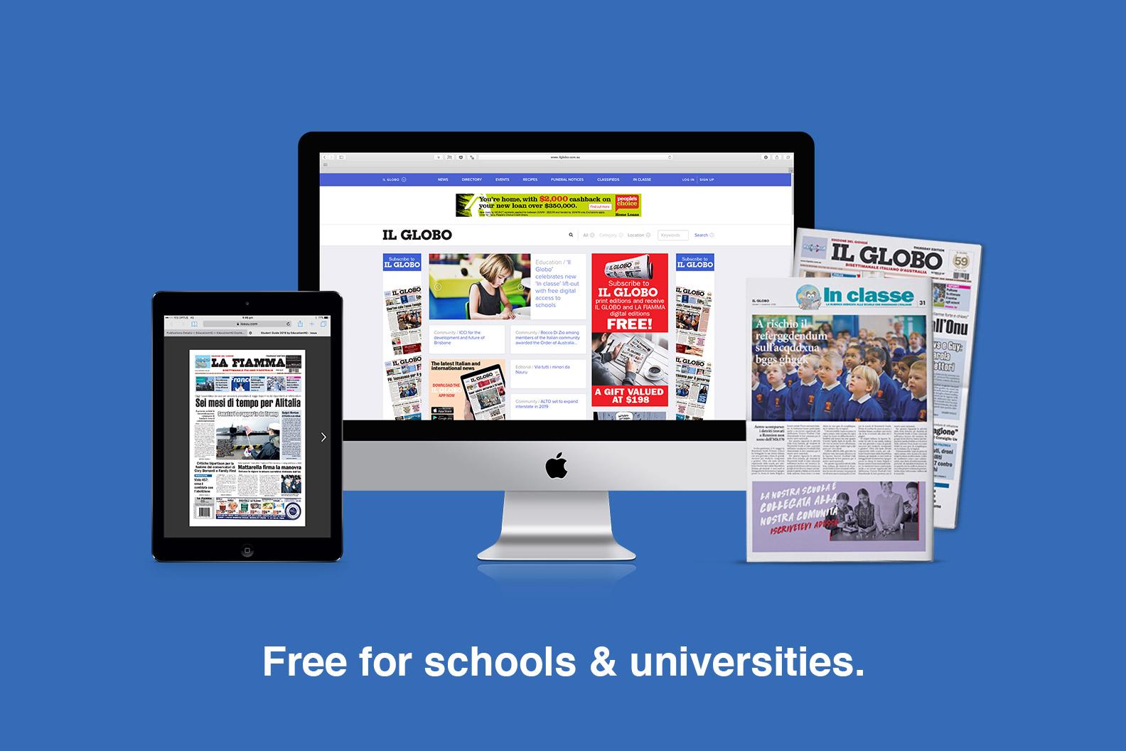 Free for schools & universities